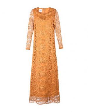 Длинное платье ANNARITA N TWENTY 4H. Цвет: охра