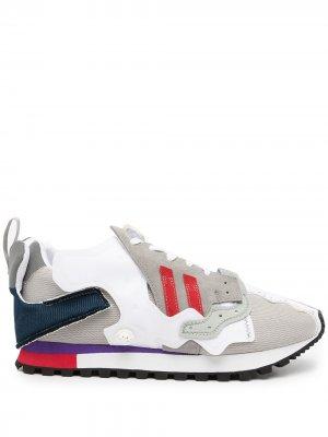Кроссовки в стиле колор-блок с логотипом Kolor. Цвет: разноцветный