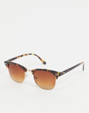 Солнцезащитные очки в черепаховой оправе -Коричневый Jeepers Peepers