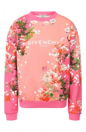 Хлопковый свитшот Givenchy. Цвет: розовый