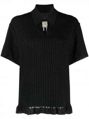 Трикотажная рубашка поло с декором 4G Givenchy. Цвет: черный