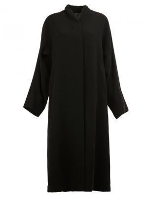 Пальто с потайной застежкой Ilaria Nistri. Цвет: чёрный