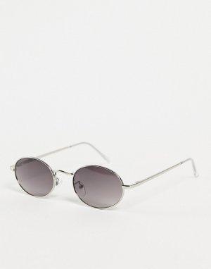 Круглые солнцезащитные очки в серебристой оправе стиле унисекс Miners-Серебристый AJ Morgan
