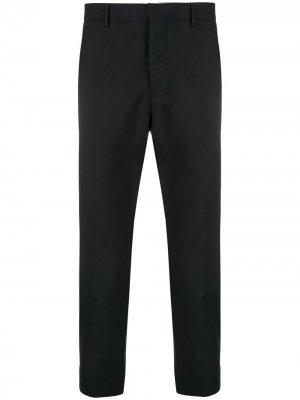 Укороченные классические брюки AMI Paris. Цвет: черный