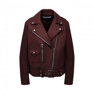 Кожаная куртка Acne Studios. Цвет: красный