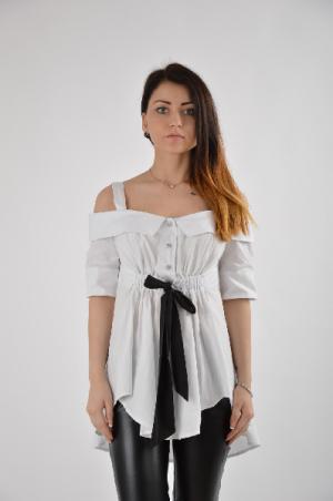 Блузка Argent. Цвет: белый