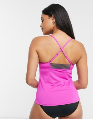 Танкини цвета фуксии с регулируемыми бретельками на спине -Розовый Nike