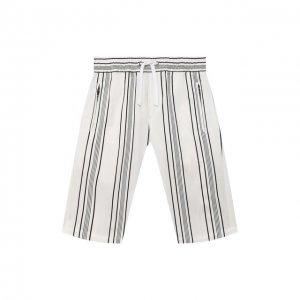 Хлопковые шорты Dolce & Gabbana. Цвет: белый