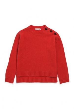 Пуловер красный Bonpoint. Цвет: красный