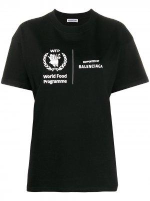 Футболка World Food Programme Balenciaga. Цвет: черный