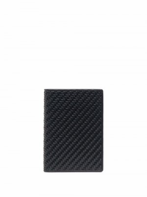Плетеная обложка для паспорта Ermenegildo Zegna. Цвет: черный
