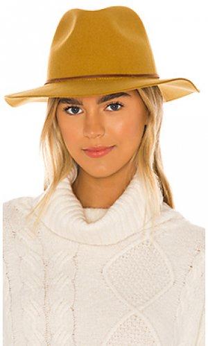 Шляпа федора wesley Brixton. Цвет: горчичный