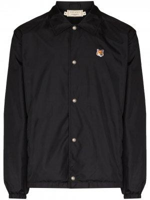 Куртка с вышитым логотипом Maison Kitsuné. Цвет: черный