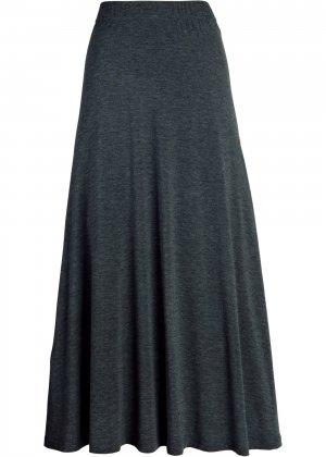 Длинная юбка-миди bonprix. Цвет: серый