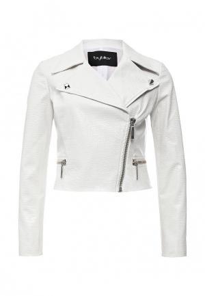 Куртка кожаная Byblos. Цвет: белый