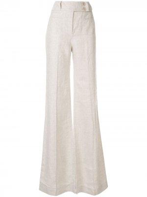 Расклешенные брюки Ara Karen Walker. Цвет: белый