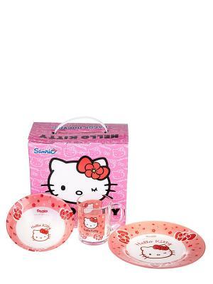 Набор Хелло Китти Hello Kitty. Цвет: прозрачный, розовый