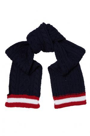 Черный вязаный шарф Gucci Kids. Цвет: multicolor