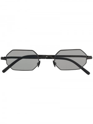 Солнцезащитные очки в восьмиугольной оправе Mykita. Цвет: черный