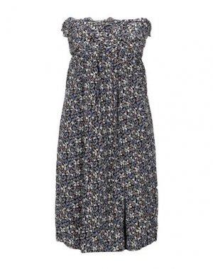 Короткое платье E-GÓ. Цвет: грифельно-синий