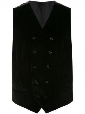 Двубортный жилет Dolce & Gabbana. Цвет: черный
