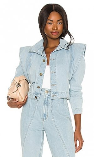 Джинсовая куртка IORANE. Цвет: синий