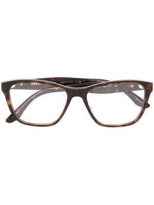 Оптические очки в квадратной оправе Prada Eyewear. Цвет: черный