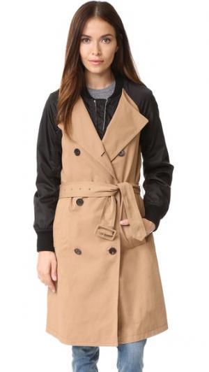 Пальто-тренч в стиле бомбера 3.1 Phillip Lim. Цвет: хаки