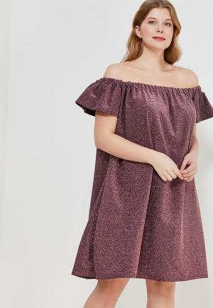 Платье LOST INK PLUS LO035EWZEJ63. Цвет: розовый