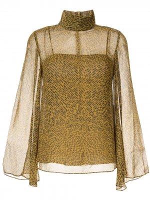 Блузка Salvador с принтом CAMILLA AND MARC. Цвет: коричневый