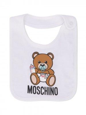Нагрудник с принтом Moschino Kids. Цвет: белый