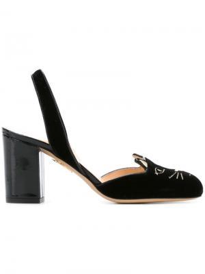 Туфли Kitty с ремешком на пятке Charlotte Olympia. Цвет: черный