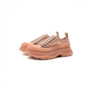 Текстильные ботинки Tread Slick Alexander McQueen. Цвет: розовый