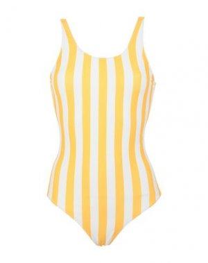 Слитный купальник DEDICATED.. Цвет: желтый