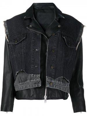 Многослойная джинсовая куртка Diesel. Цвет: черный