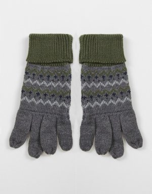 Перчатки с узором -Серый Boardmans