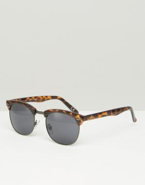 Солнцезащитные очки в черепаховой оправе Wayde V2W9FZF Vans. Цвет: коричневый