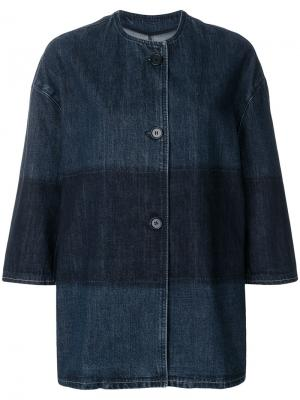 Однобортная джинсовая куртка Marni. Цвет: синий