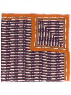 Платок с графичным принтом Luisa Cerano. Цвет: оранжевый