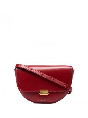 Большая поясная сумка Anna Wandler. Цвет: красный