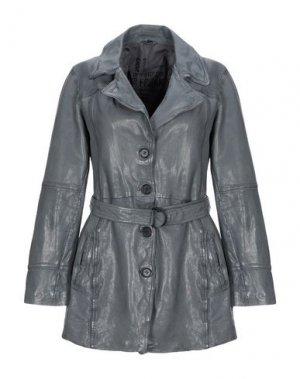 Легкое пальто FREAKY NATION. Цвет: свинцово-серый