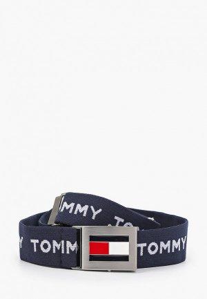 Ремень Tommy Hilfiger. Цвет: синий