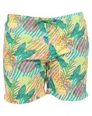 Шорты для плавания FRANKS. Цвет: светло-зеленый