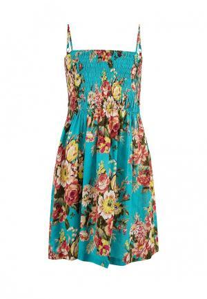 Платье Sela. Цвет: зеленый