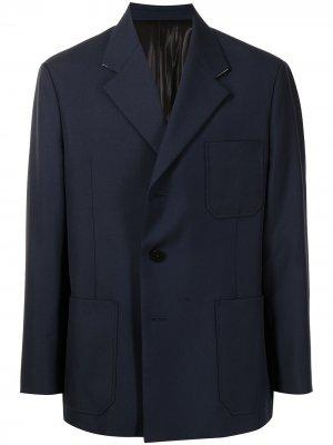 Однобортный пиджак SOLID HOMME. Цвет: синий