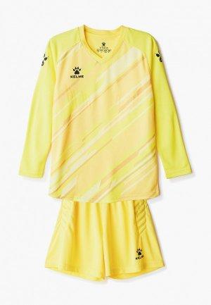 Костюм спортивный Kelme Goalkeeper L/S Suit KID. Цвет: желтый