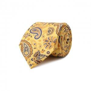 Комплект из галстука и платка Canali. Цвет: жёлтый