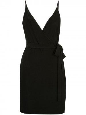 LAgence платье Tate с запахом L'Agence. Цвет: черный