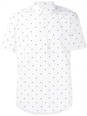 Рубашка с геометричным узором Michael Kors. Цвет: белый