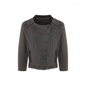 Джинсовая куртка Black Label Harley-Davidson. Цвет: серый